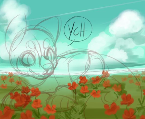 YCH: Flower field:OPEN by Pand-ASS