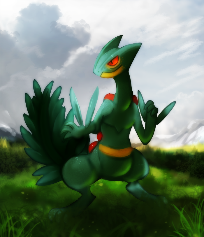 Sceptile by Pand-ASS