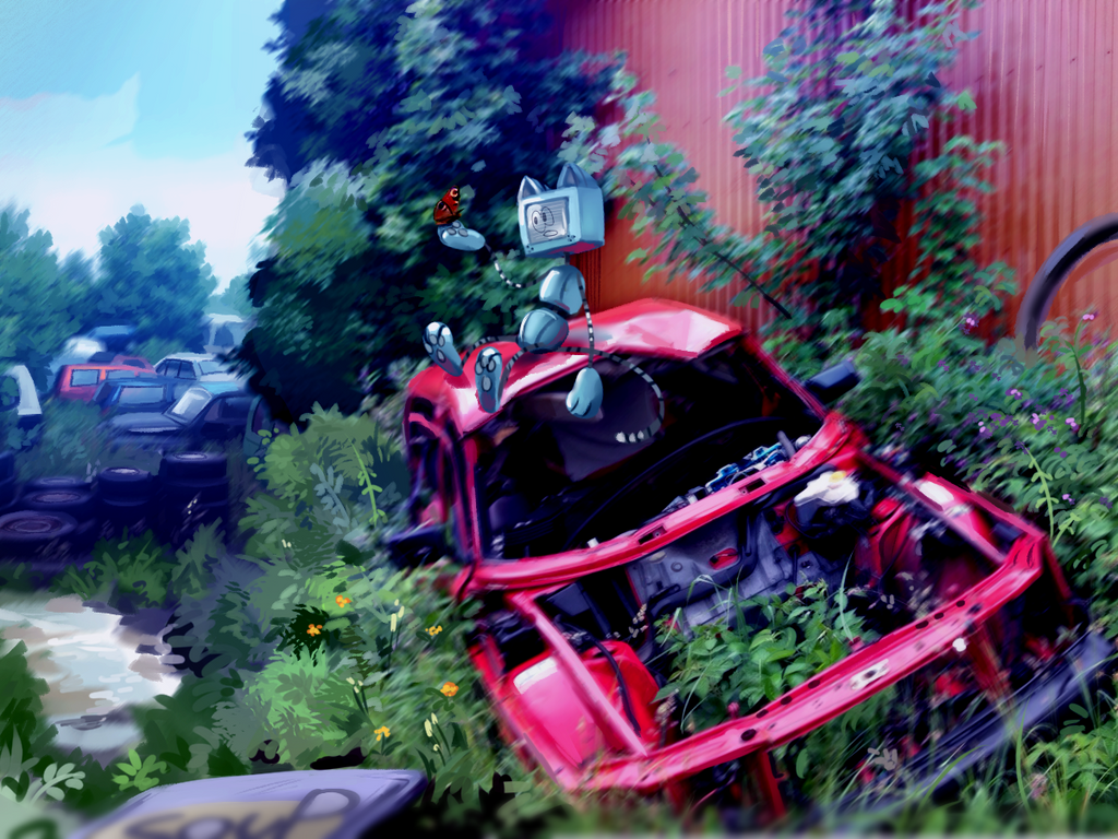 Junk yard by Pand-ASS