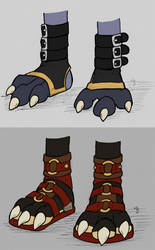 Concept - Foot/Paw Wear Designs