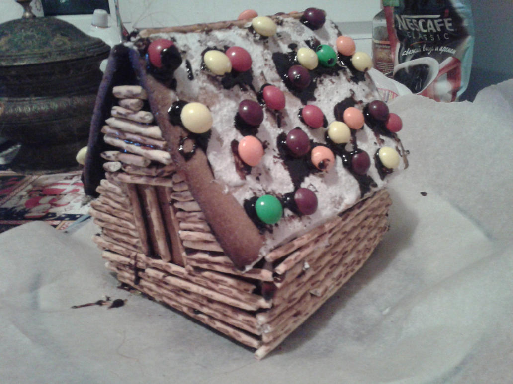 Old new year, and a gingerbread house. by Not-Sleeping-Owl