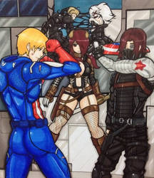 Marvel BEP crossover by Yuki-Draws-the-Thing