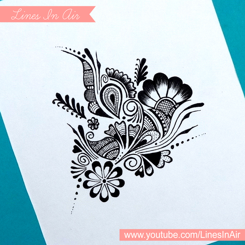 random abstract henna mehndi design by linesinair on deviantart. Black Bedroom Furniture Sets. Home Design Ideas