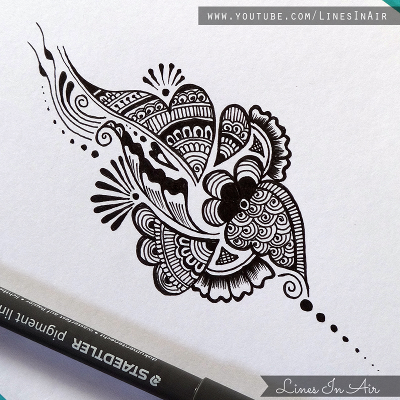 Henna Design Line Art : Another easy henna mehndi design by linesinair on deviantart