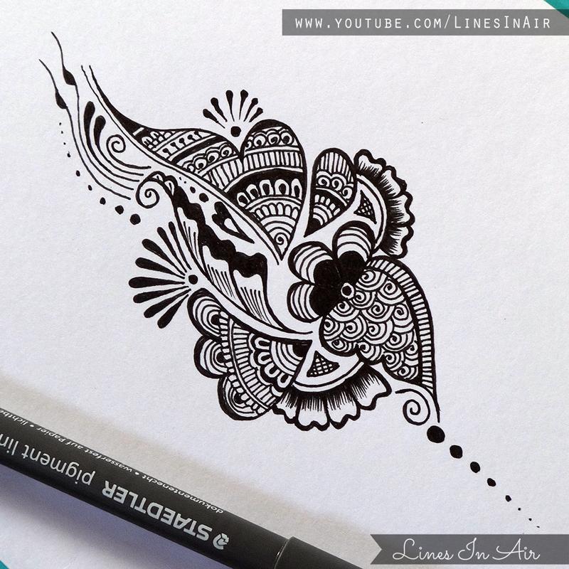 Mehndi Design Line Art : Another easy henna mehndi design by linesinair on deviantart