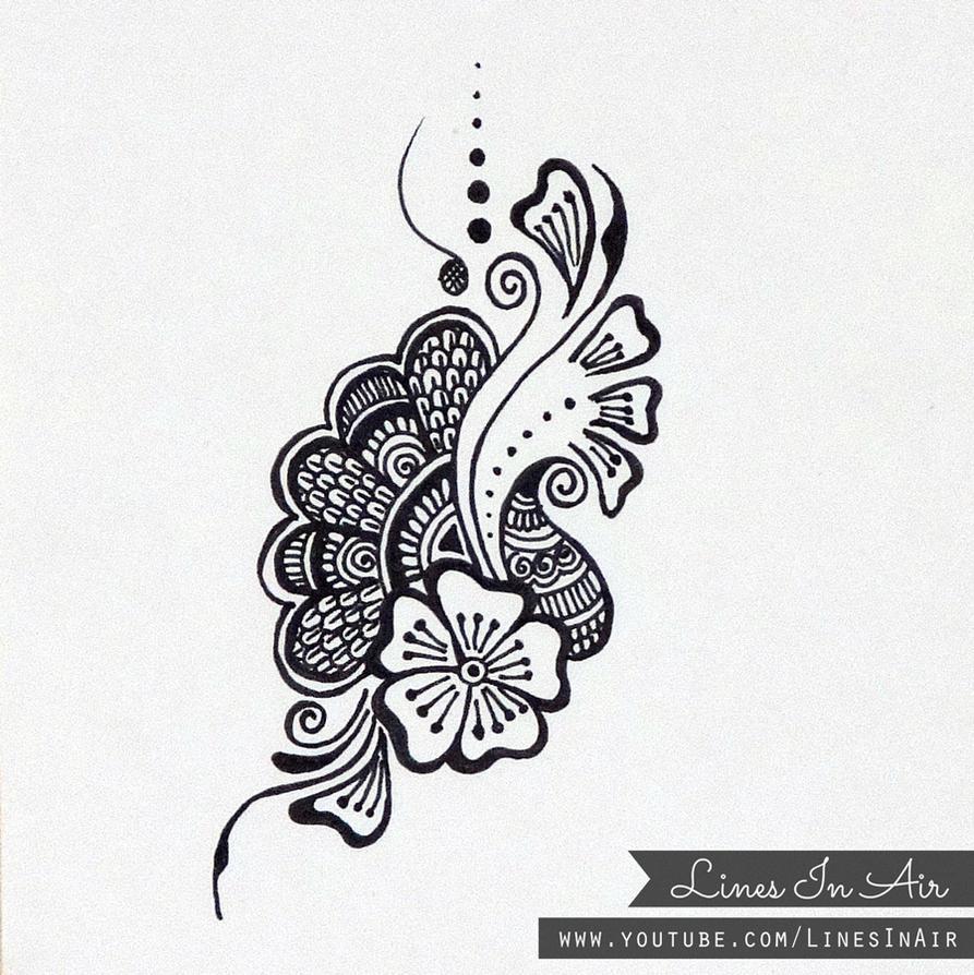 Mehndi Design Line Art : Henna design doodle by linesinair on deviantart
