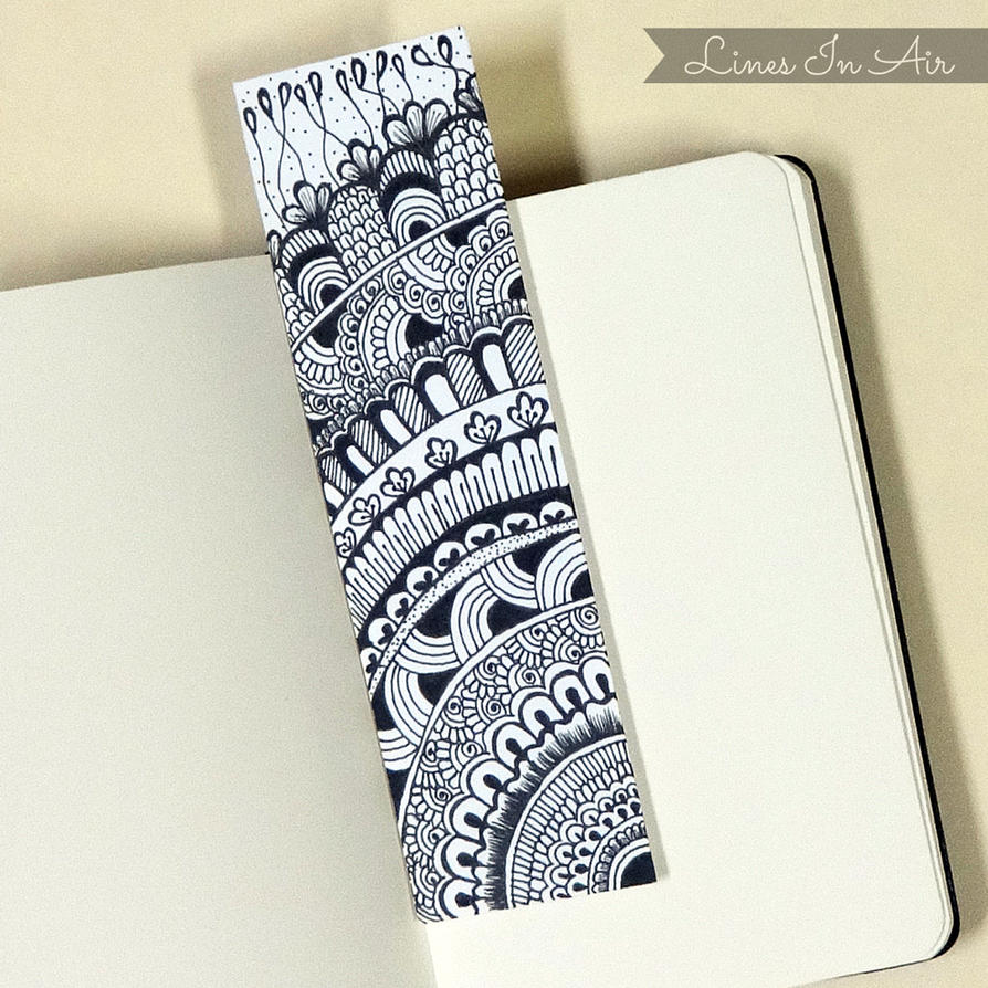 Doodle bookmark by linesinair on deviantart for Simple bookmarks