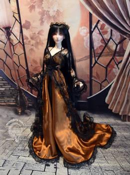 Fairyland Chloe - Black Lace and Gold Dress 3