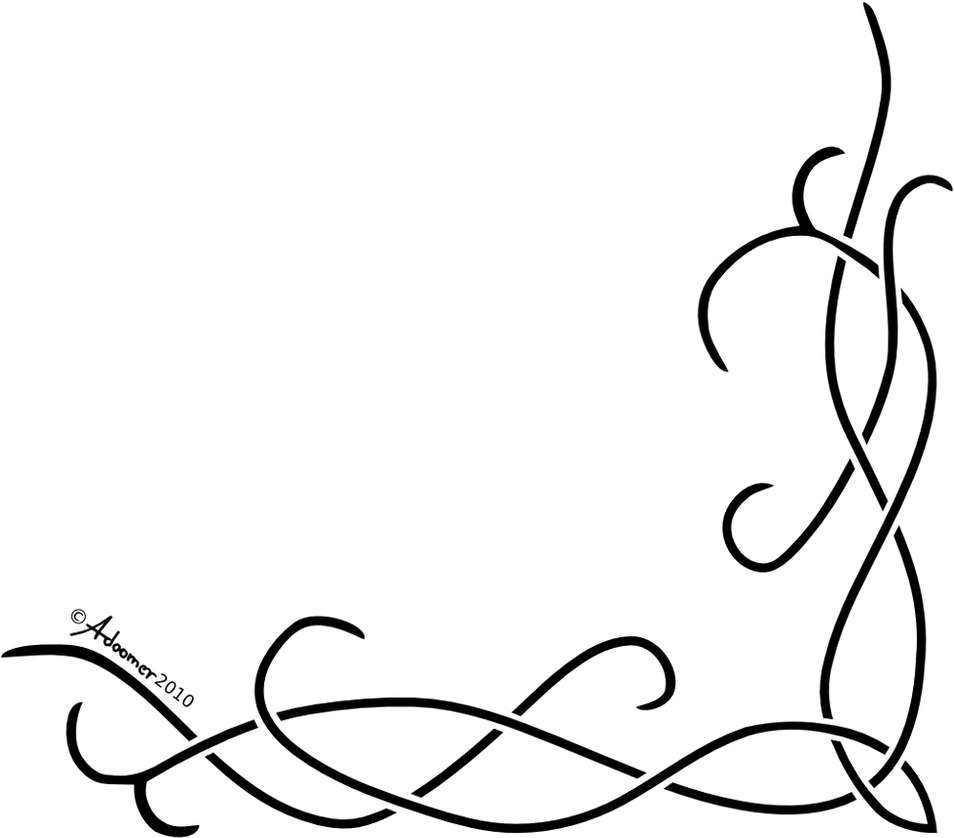 42 Simple Calligraphy Corner Designs