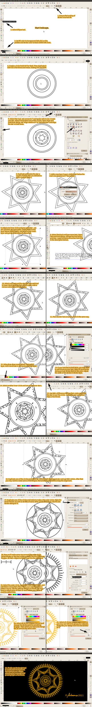 Magic circle... in Inkscape by adoomer
