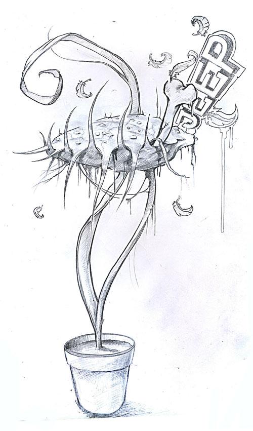 fleischfressende pflanze by joern reiners on deviantart. Black Bedroom Furniture Sets. Home Design Ideas