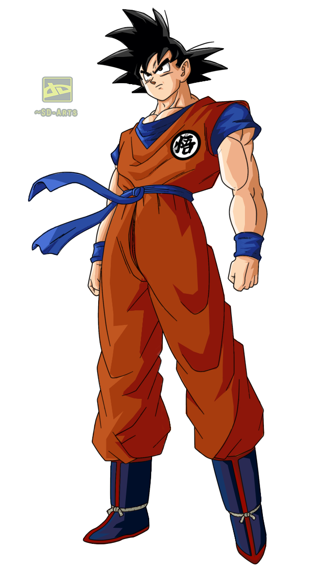 Goku - Coloreado [Sin Fondo] by SD-Arts on DeviantArt