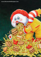 Retched Ronald - GPK style by DeJarnette