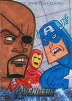 Upper Deck Avengers movie sketch card by DeJarnette