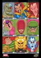 Marvel Beginnings Series 2 sketch cards by DeJarnette