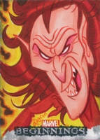 Mephisto Marvel Beginnings 2 sketch card by DeJarnette