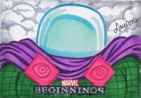 Mysterio: Marvel Beginnings Series 2 sketch card by DeJarnette