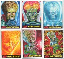 Mars Attacks Heritage sketch cards for Topps 01 by DeJarnette