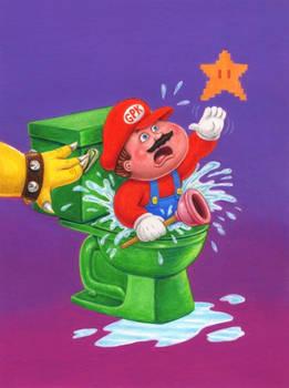 Garbage Pail Kids and Mario mash-up!
