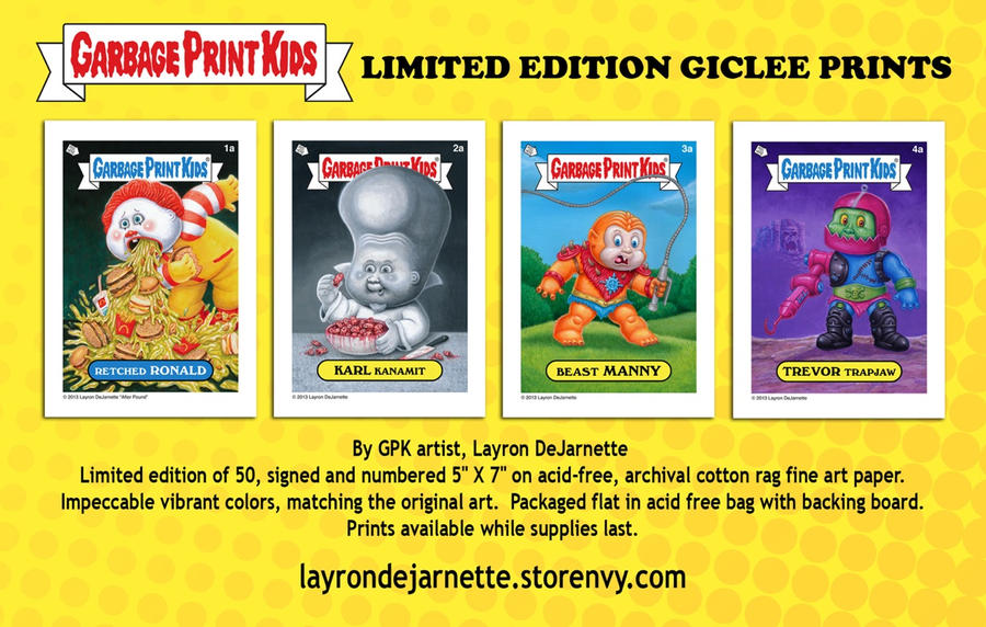 GPK Limited Edition Giclee Prints ON SALE!!! by DeJarnette