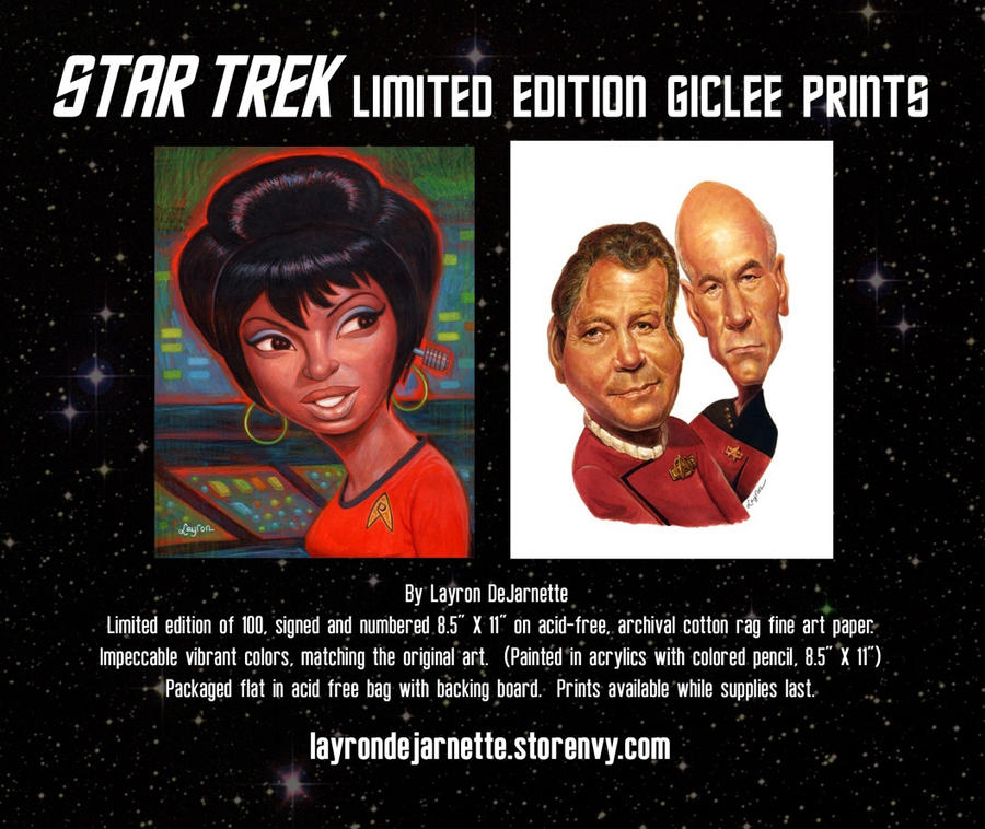 Star Trek Limited Edition Giclee Prints ON SALE!!! by DeJarnette