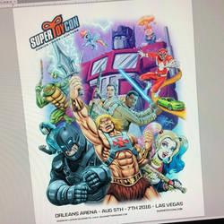 Final color t-shirt illustration for SuperToyCon by DeJarnette