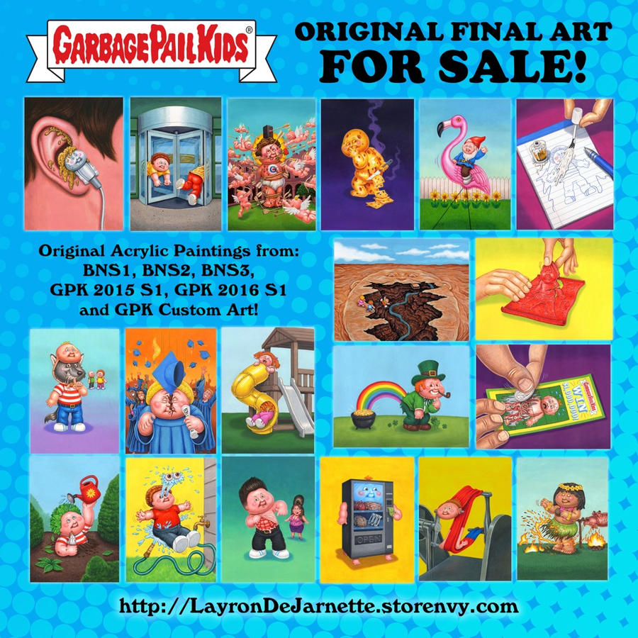 Original gpk final art and prints for sale by dejarnette for Poster prints for sale