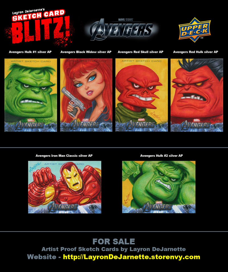 FOR SALE: Avengers Sketch Cards by DeJarnette