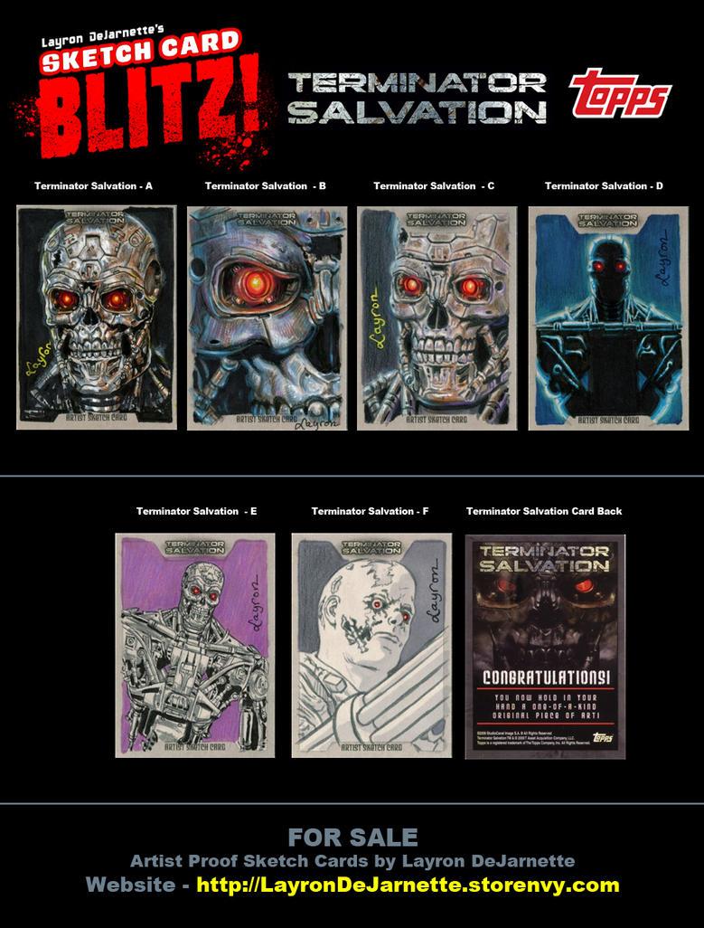 FOR SALE: Terminator Sketch Cards by DeJarnette