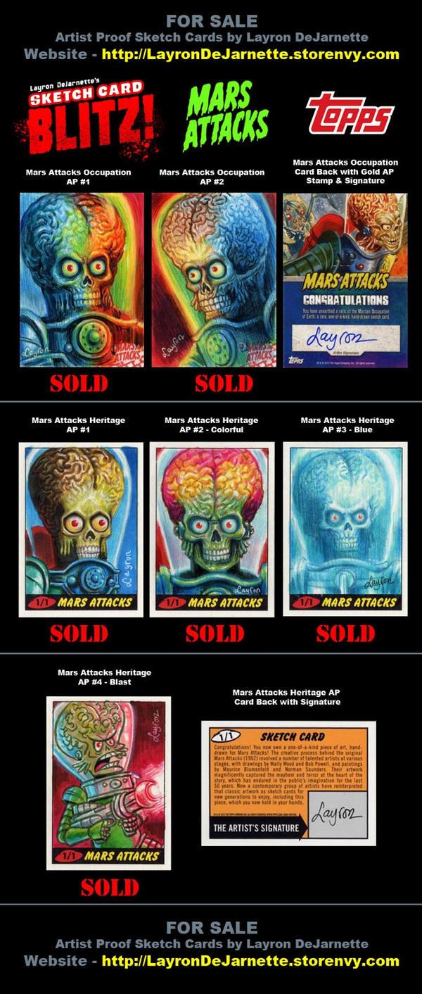 Mars Attacks Sketch Cards (SOLD OUT) by DeJarnette