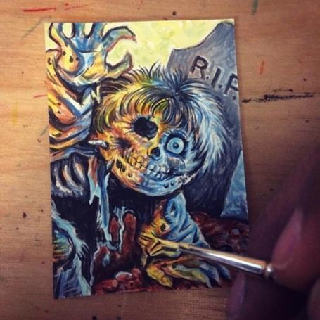 FOR SALE: GPK Dead TED Sketch Card by DeJarnette
