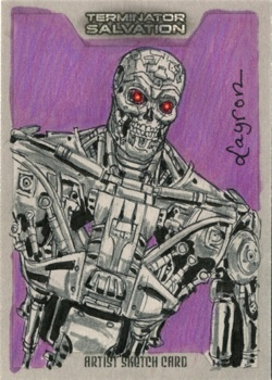 FOR SALE 2009 Topps TERMINATOR sketch card on eBay by DeJarnette