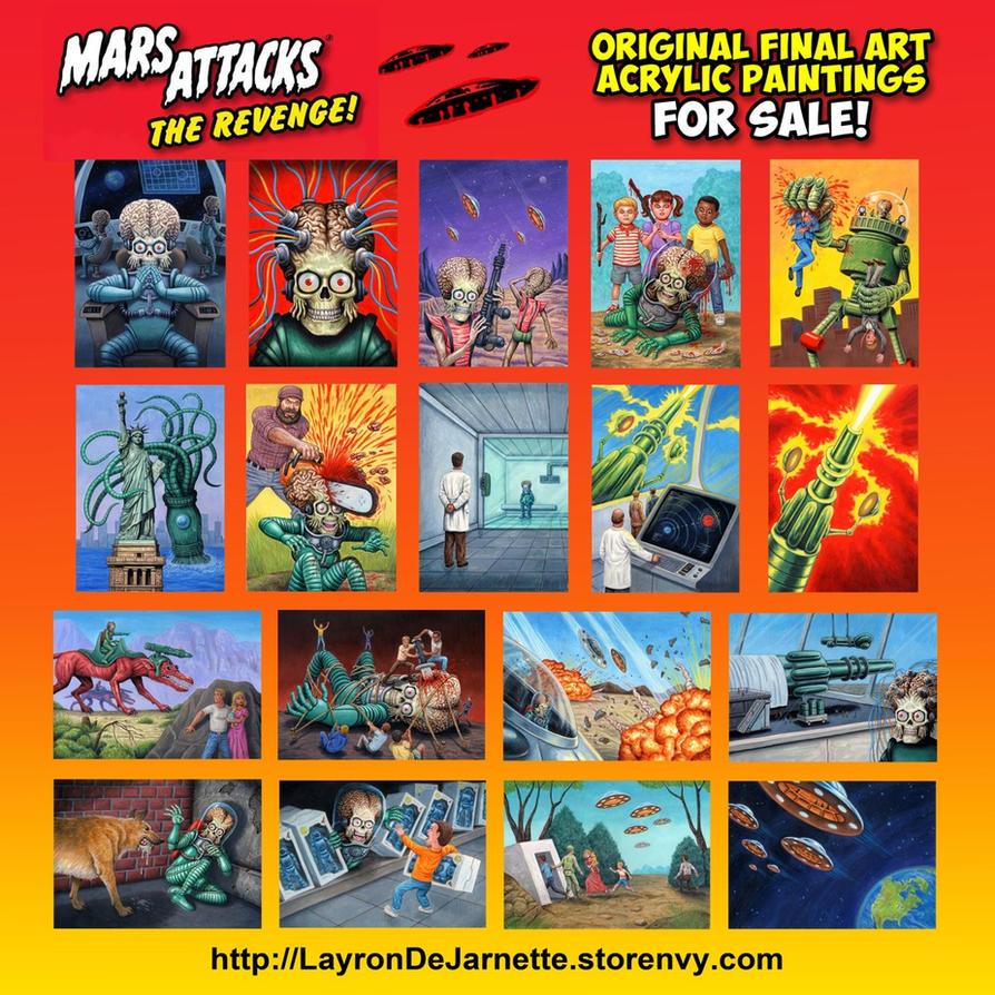 FOR SALE! Mars Attacks Original Final Art! by DeJarnette