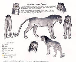 Meoran Model Sheet for Ratha Graphic Novel by rathacat