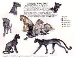 Nightling Model Sheet for Ratha Graphic Novel by rathacat