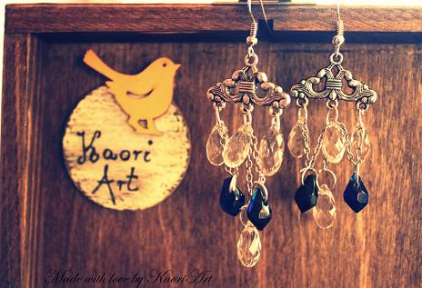The aristocratic chandeliers earrings by KaoriArt