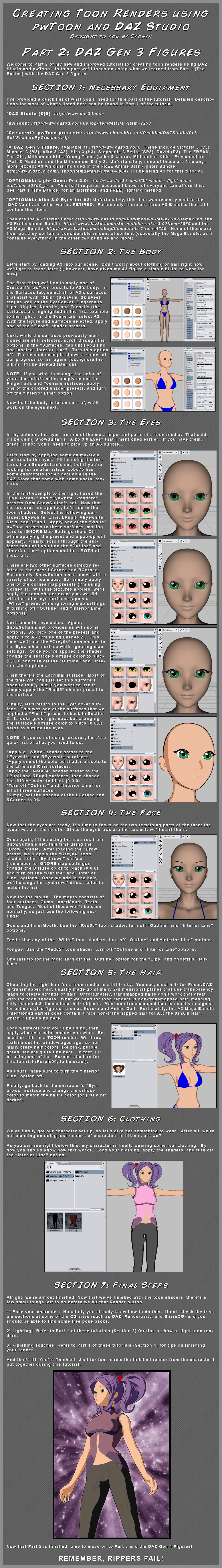 pwToon Tutorial 2 - DAZ Gen 3 by CyonixGFX on DeviantArt