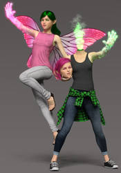 Zoey and Lauren - Mystic Forms by CyonixGFX