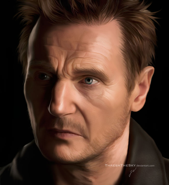Liam Neeson by ThreshTheSky