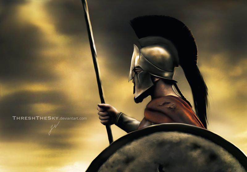 300: King Leonidas by ... Zeus Statue Wallpaper