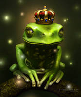 Frog Prince on the Bayou by ThreshTheSky