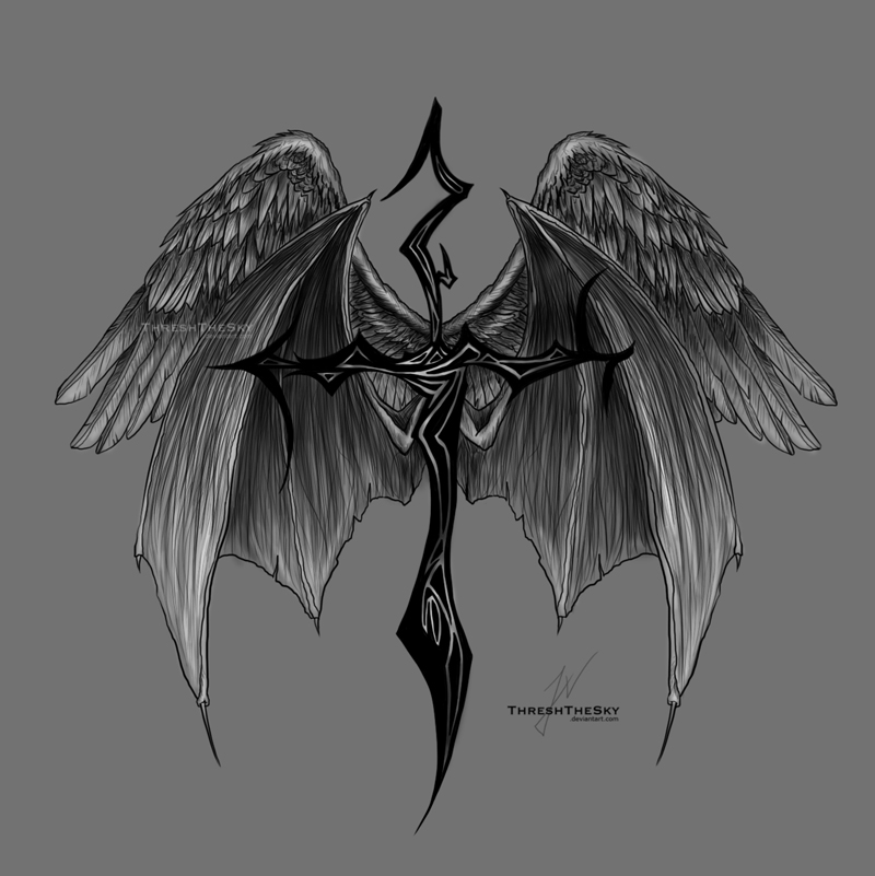 Fallen Angel Tattoo By ThreshTheSky On DeviantArt