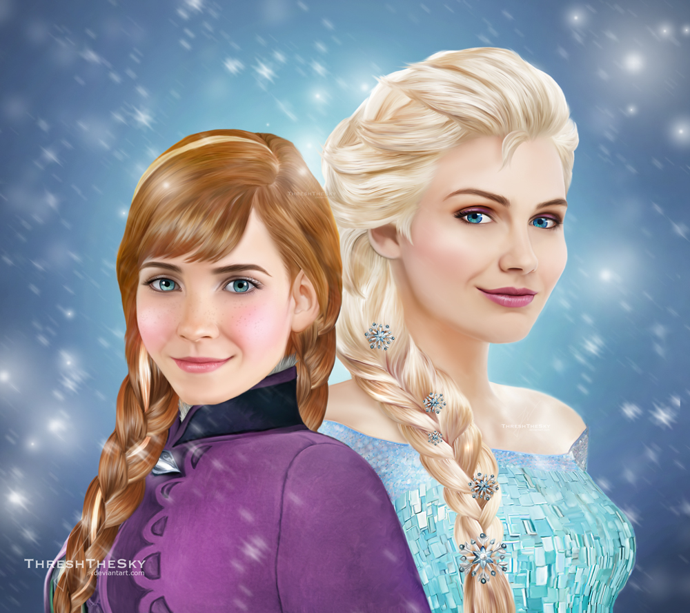 Frozen: Anna and Elsa by ThreshTheSky
