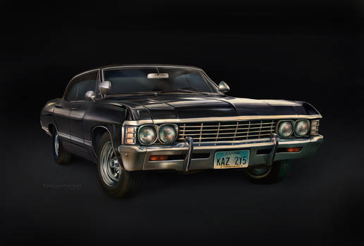 '67 Chevy Impala (digital painting)