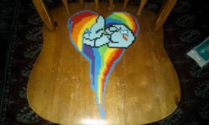 Rainbow Dash Sleeping Heart