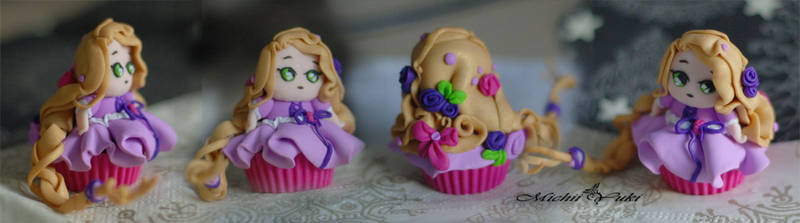 Rapunzel Cupcake Detailed view