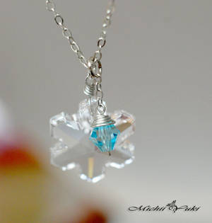 Frozen Insprired Snowflake Crystal Necklace