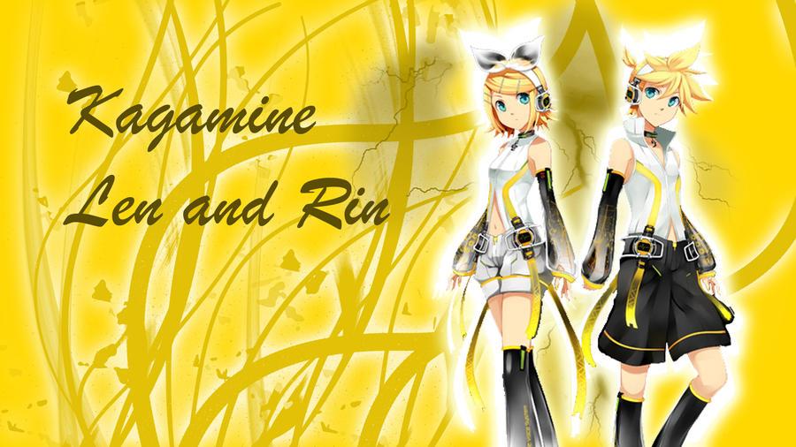 Vocaloid Wallpaper Rin Vocaloid Rin and Len Wallpaper