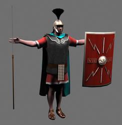Legionary of the Legion VII Claudia Pia Fidelis