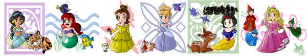 Chibi Princesses by Akei-Tyrian